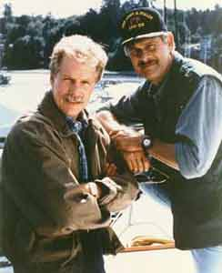 Photo of Gerald McRaney & his friend actor  Jameson Parker - CAst of Simon & Simon